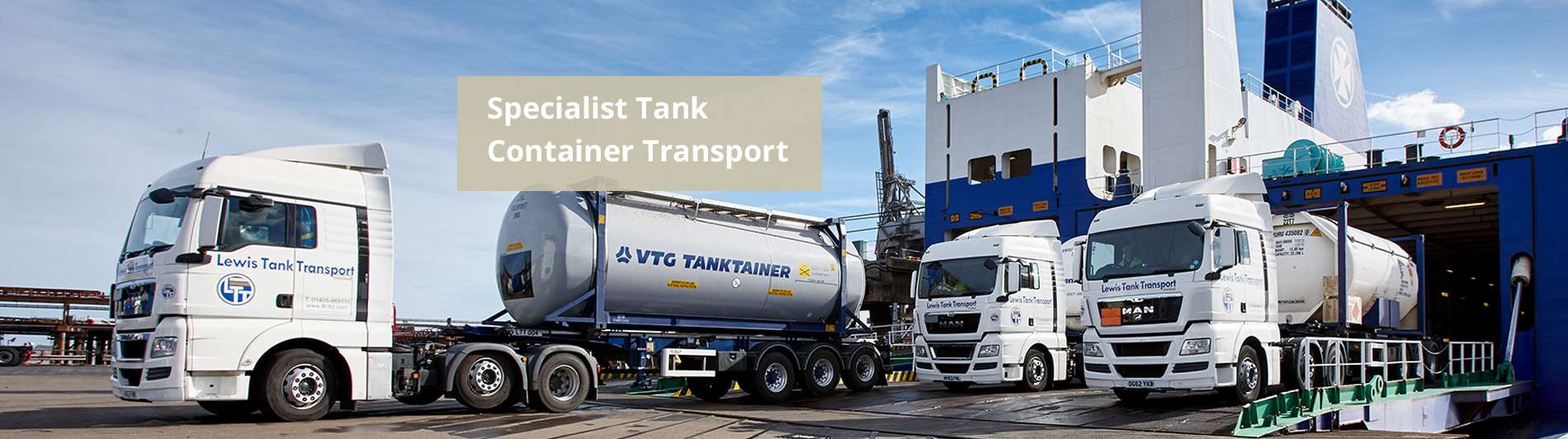 Specialist Tank Container Transport - Lewis Tank Transport